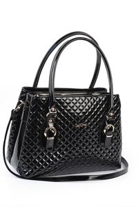 Glossy handtas - Zwart