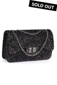 Handtas met glitters - Black
